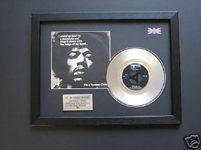 "JIMI HENDRIX - Voodoo Chile 7"" Platinum Disc with Cover"